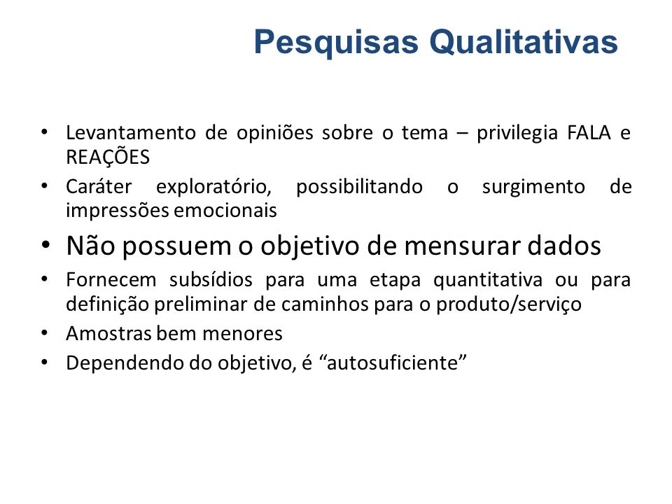 Pesquisas Qualitativas