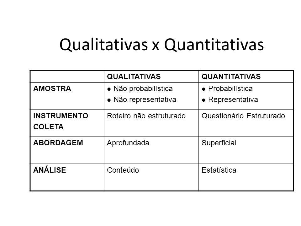 Qualitativas x Quantitativas