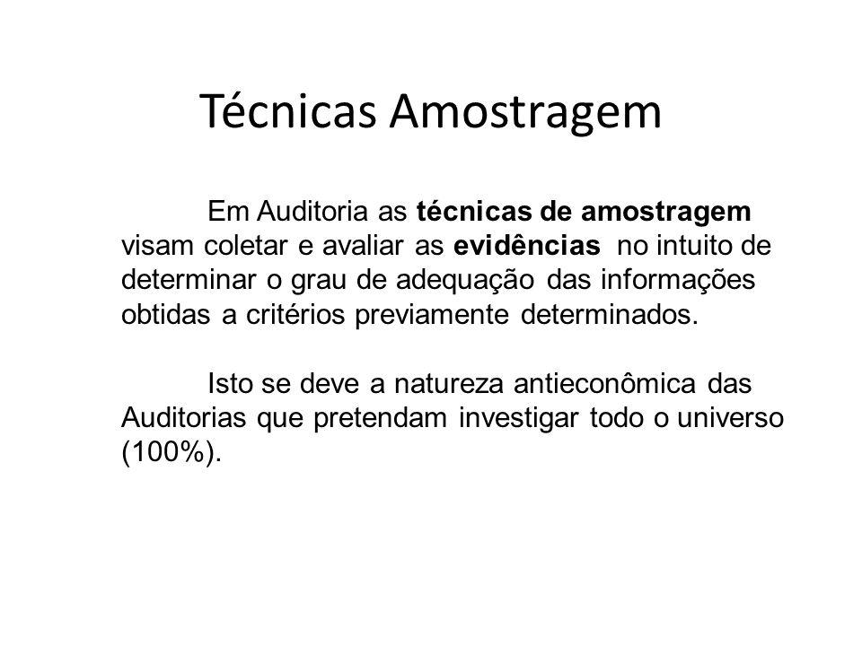 Técnicas Amostragem