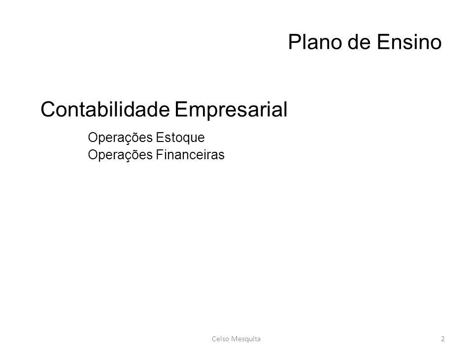 Contabilidade Empresarial Operações Estoque