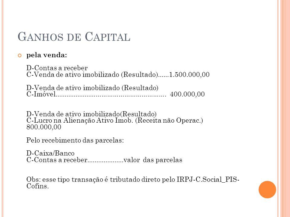 Ganhos de Capital