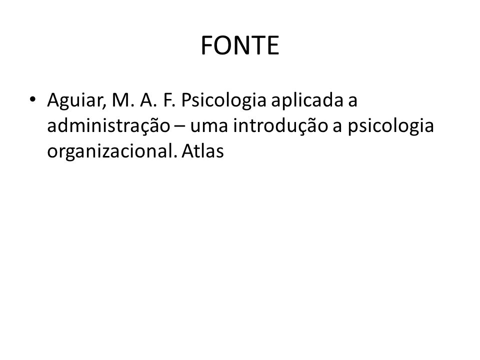 FONTE Aguiar, M. A. F.