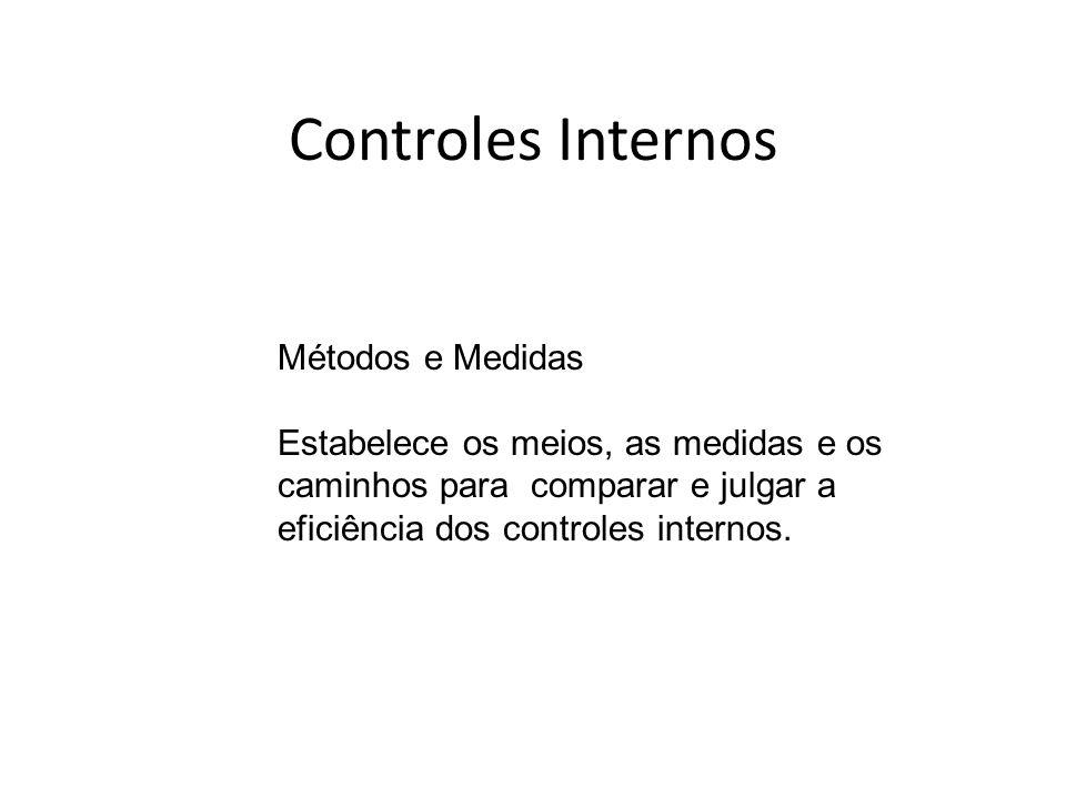 Controles Internos Métodos e Medidas