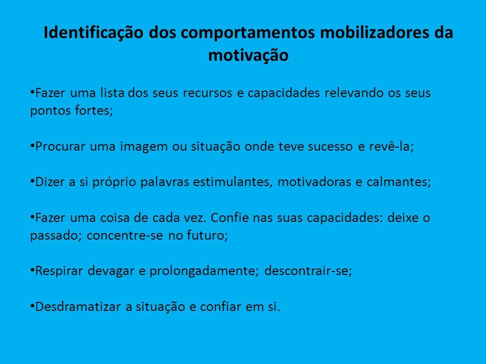 Identificação dos comportamentos mobilizadores da