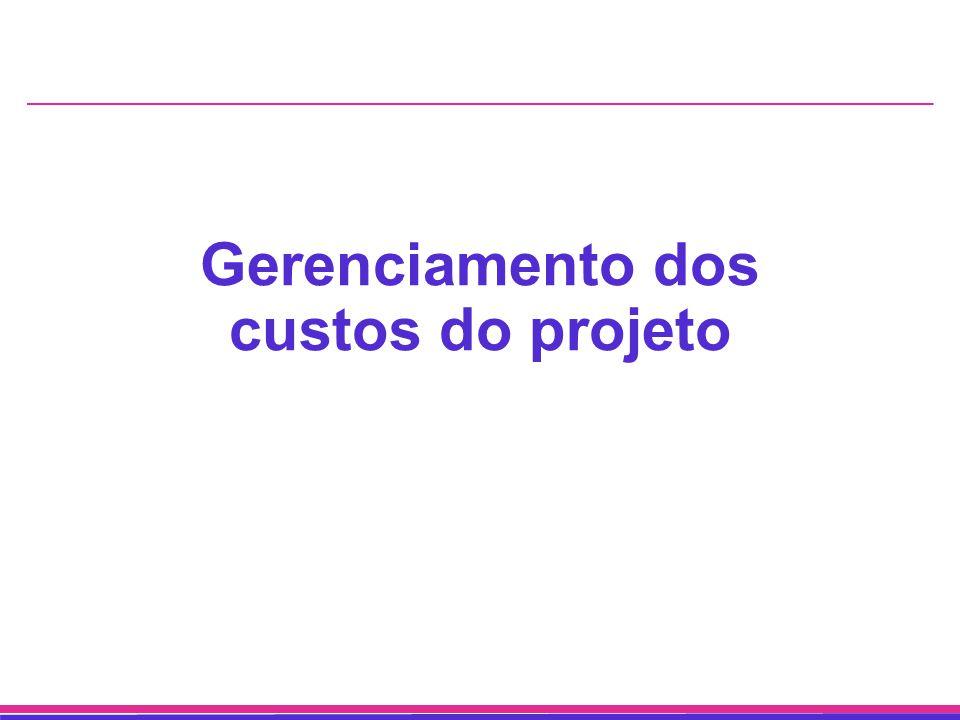 Gerenciamento dos custos do projeto