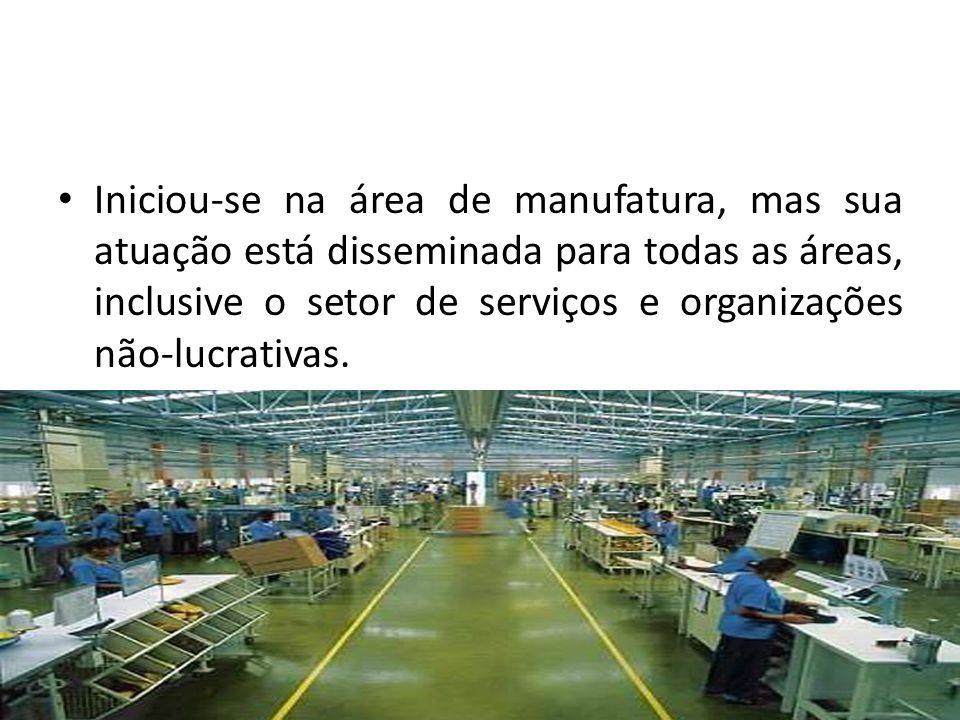 Iniciou-se na área de manufatura, mas sua atuação está disseminada para todas as áreas, inclusive o setor de serviços e organizações não-lucrativas.