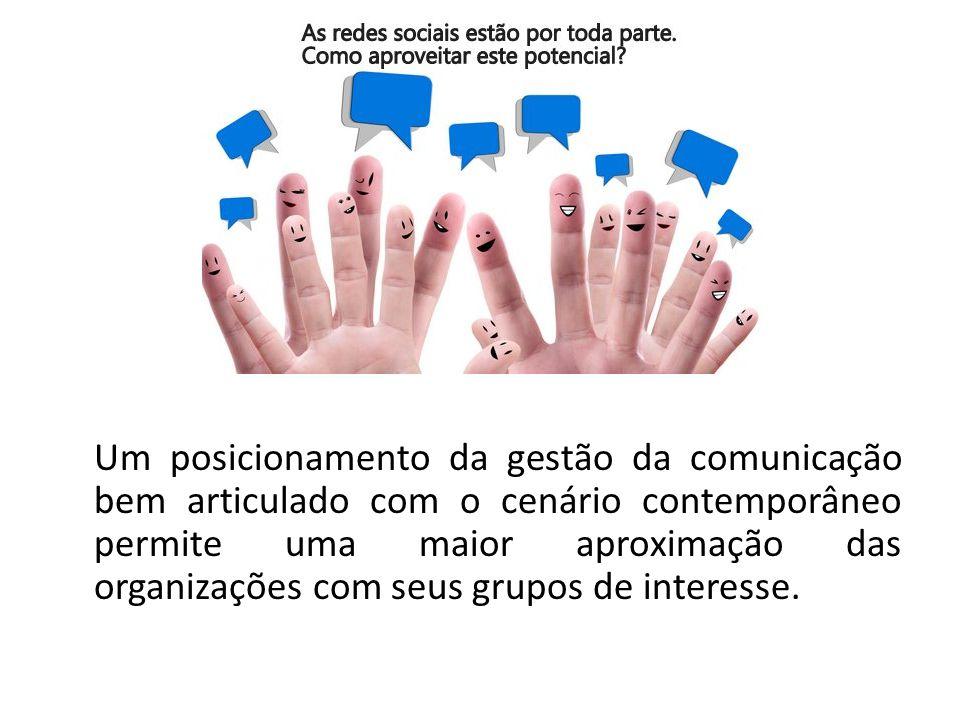 Um posicionamento da gestão da comunicação bem articulado com o cenário contemporâneo permite uma maior aproximação das organizações com seus grupos de interesse.