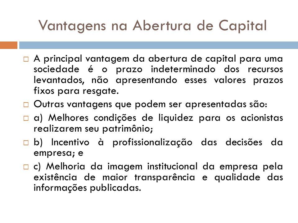 Vantagens na Abertura de Capital