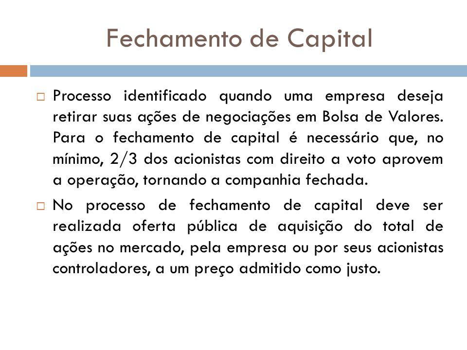 Fechamento de Capital