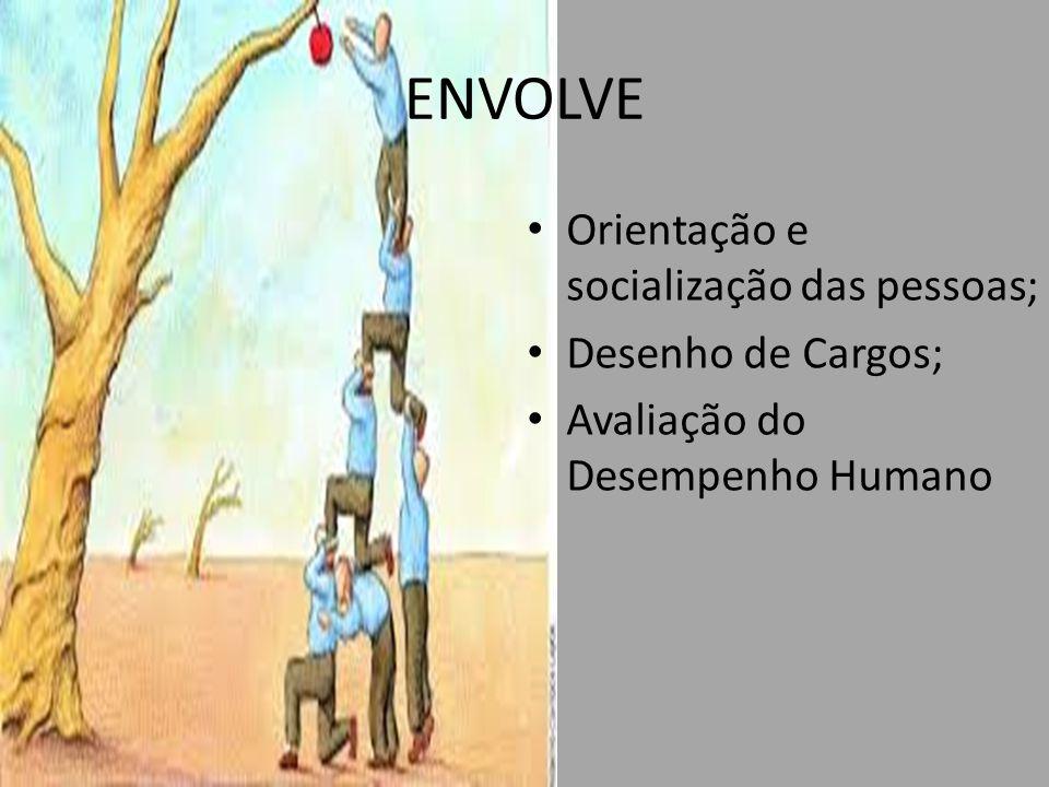 ENVOLVE Orientação e socialização das pessoas; Desenho de Cargos;
