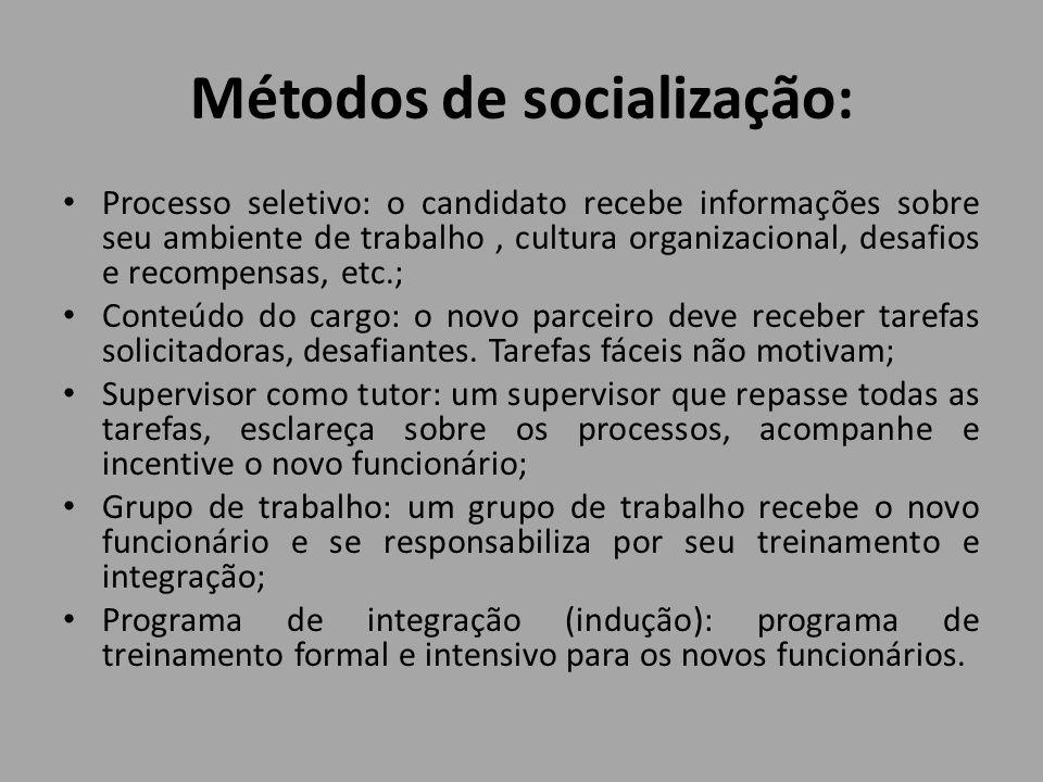 Métodos de socialização: