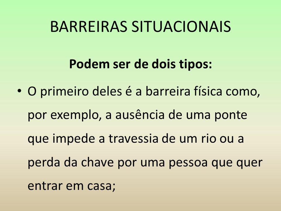 BARREIRAS SITUACIONAIS