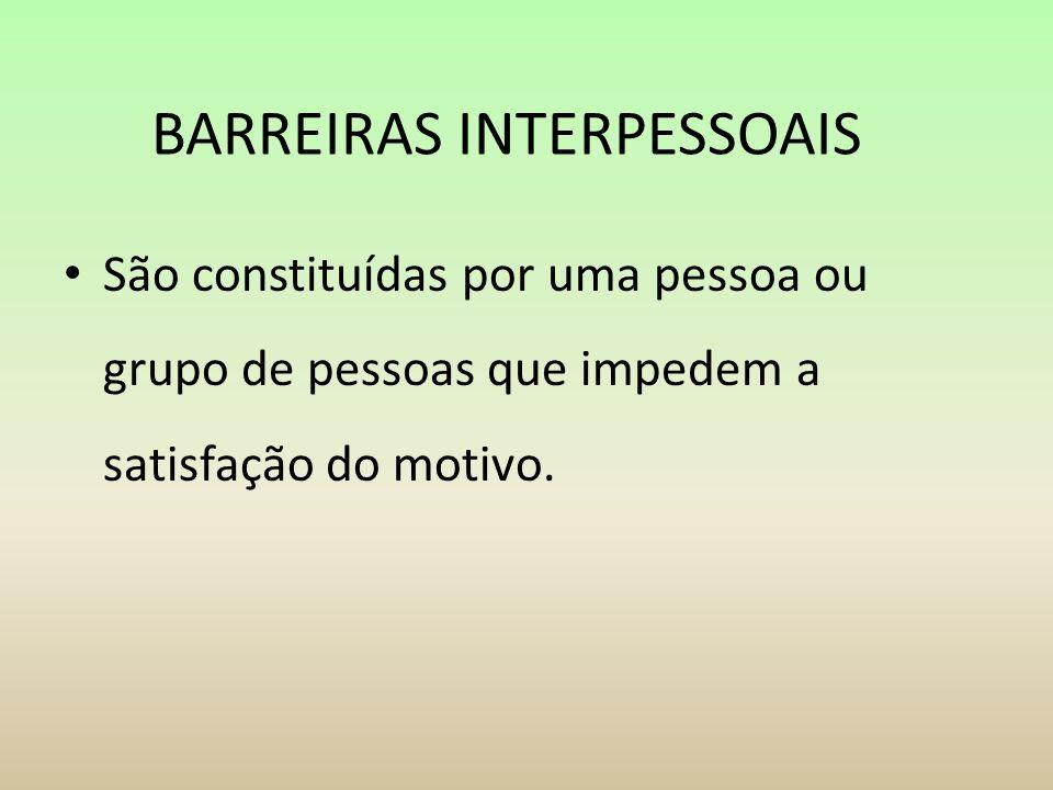 BARREIRAS INTERPESSOAIS