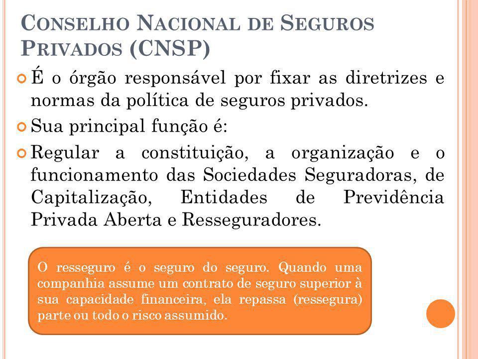 Conselho Nacional de Seguros Privados (CNSP)