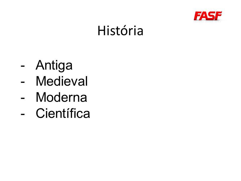 História Antiga Medieval Moderna Científica