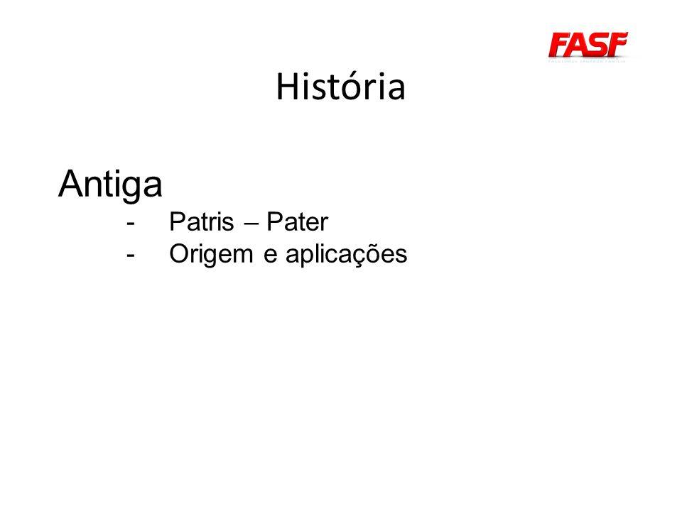 História Antiga Patris – Pater Origem e aplicações
