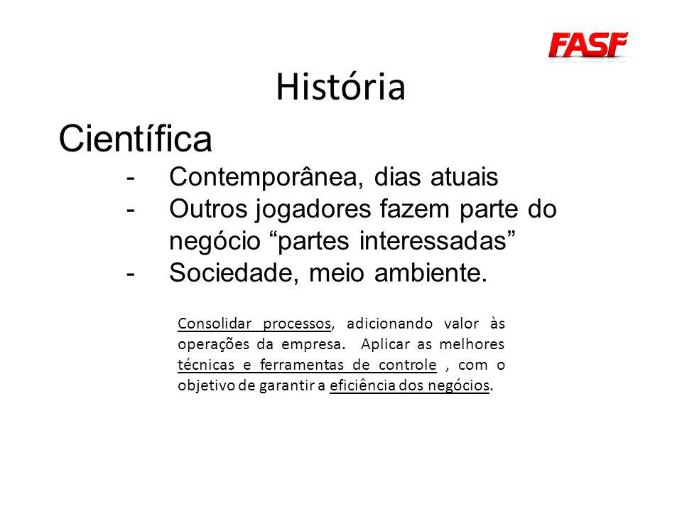 História Científica Contemporânea, dias atuais