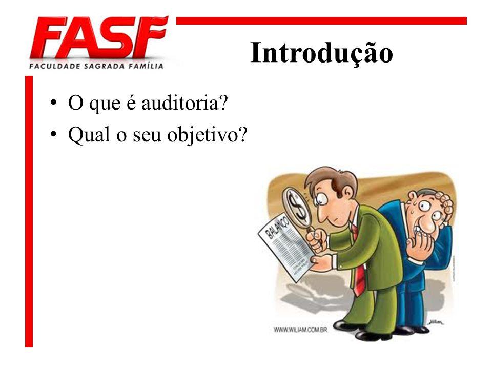 Introdução O que é auditoria Qual o seu objetivo