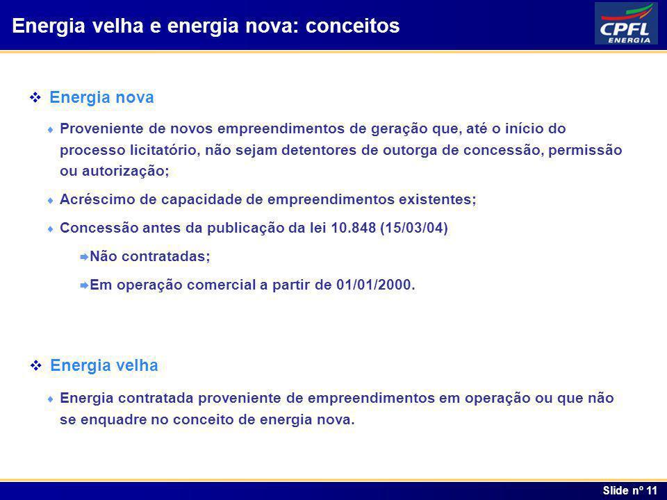 Energia velha e energia nova: conceitos
