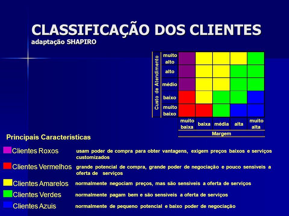 CLASSIFICAÇÃO DOS CLIENTES adaptação SHAPIRO