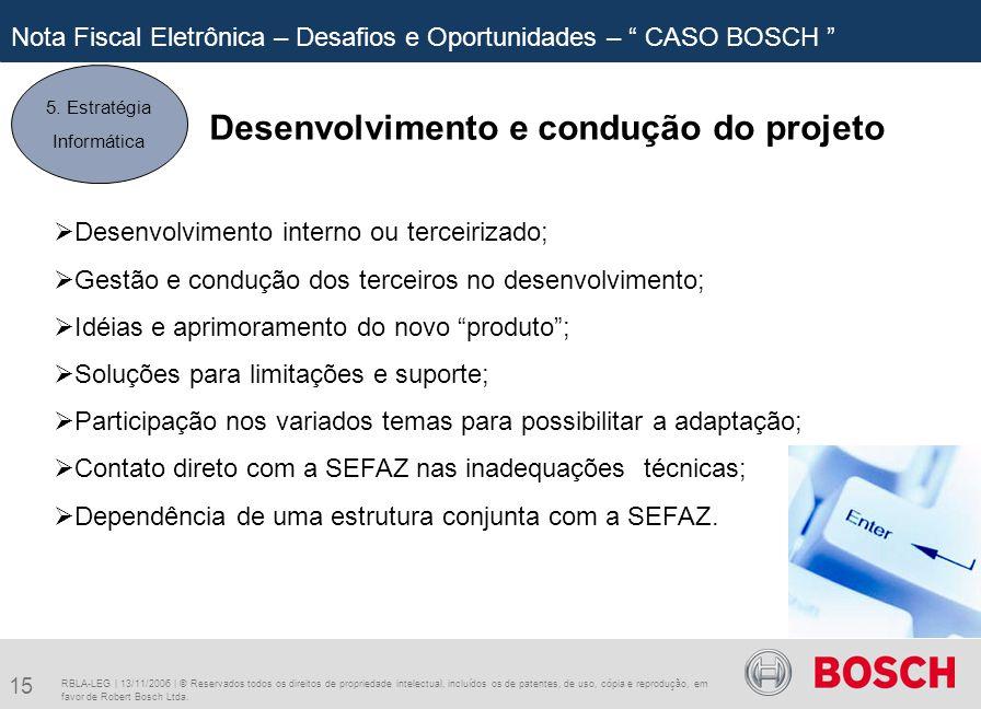 Desenvolvimento e condução do projeto