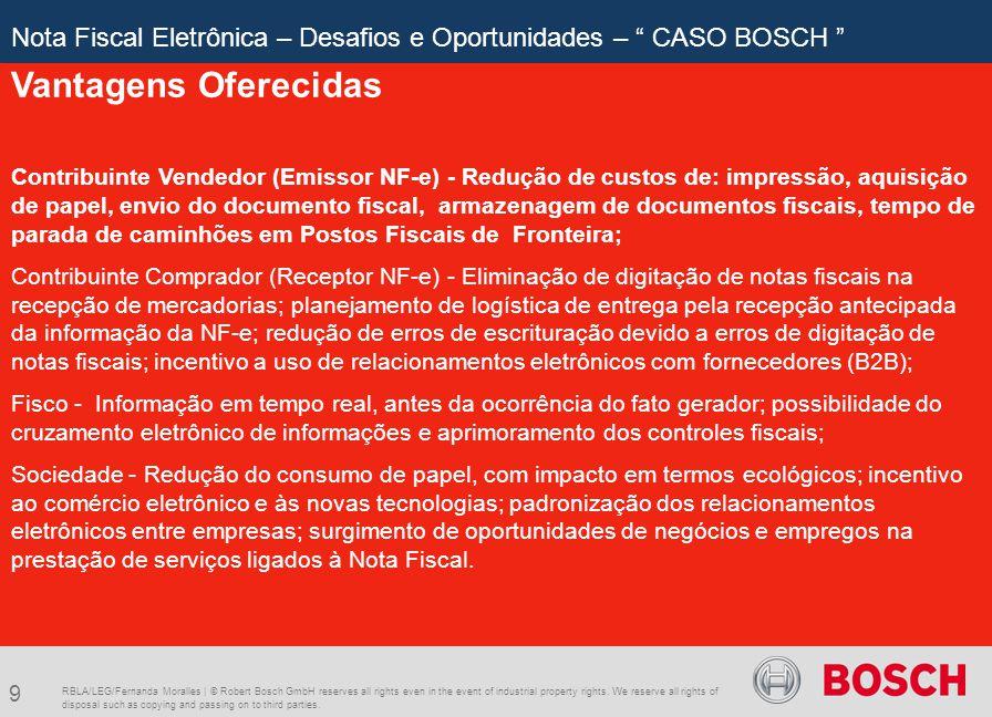 Nota Fiscal Eletrônica – Desafios e Oportunidades – CASO BOSCH