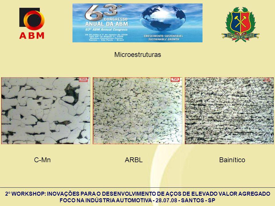 Microestruturas C-Mn ARBL Bainítico.