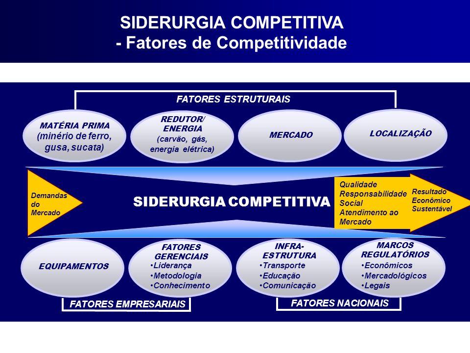 SIDERURGIA COMPETITIVA - Fatores de Competitividade