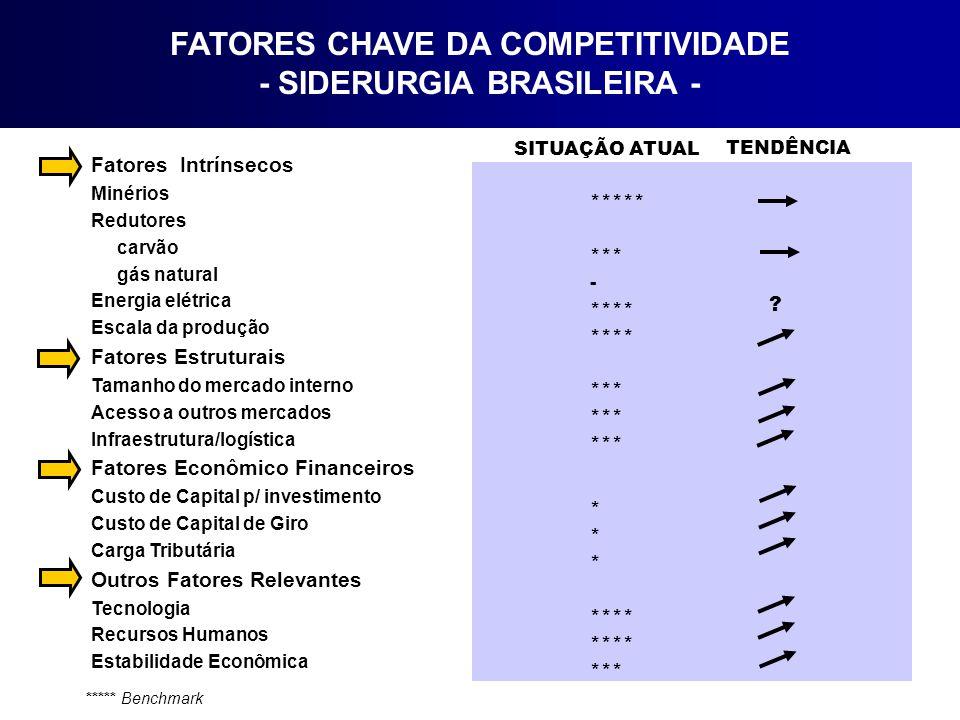 FATORES CHAVE DA COMPETITIVIDADE - SIDERURGIA BRASILEIRA -