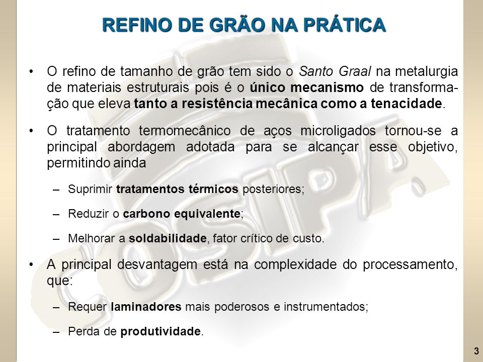 REFINO DE GRÃO NA PRÁTICA