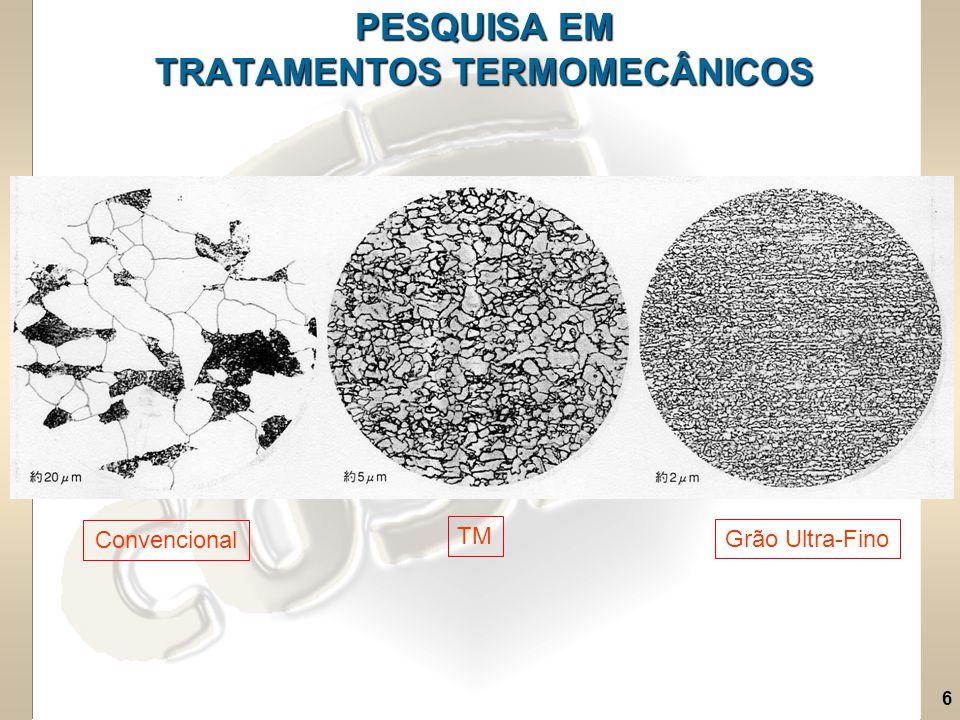 PESQUISA EM TRATAMENTOS TERMOMECÂNICOS
