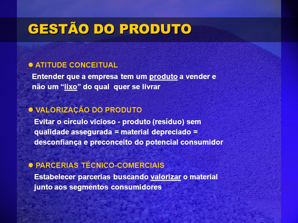 GESTÃO DO PRODUTO ATITUDE CONCEITUAL