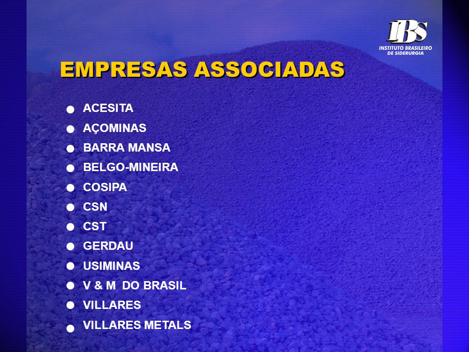 EMPRESAS ASSOCIADAS ACESITA AÇOMINAS BARRA MANSA BELGO-MINEIRA COSIPA