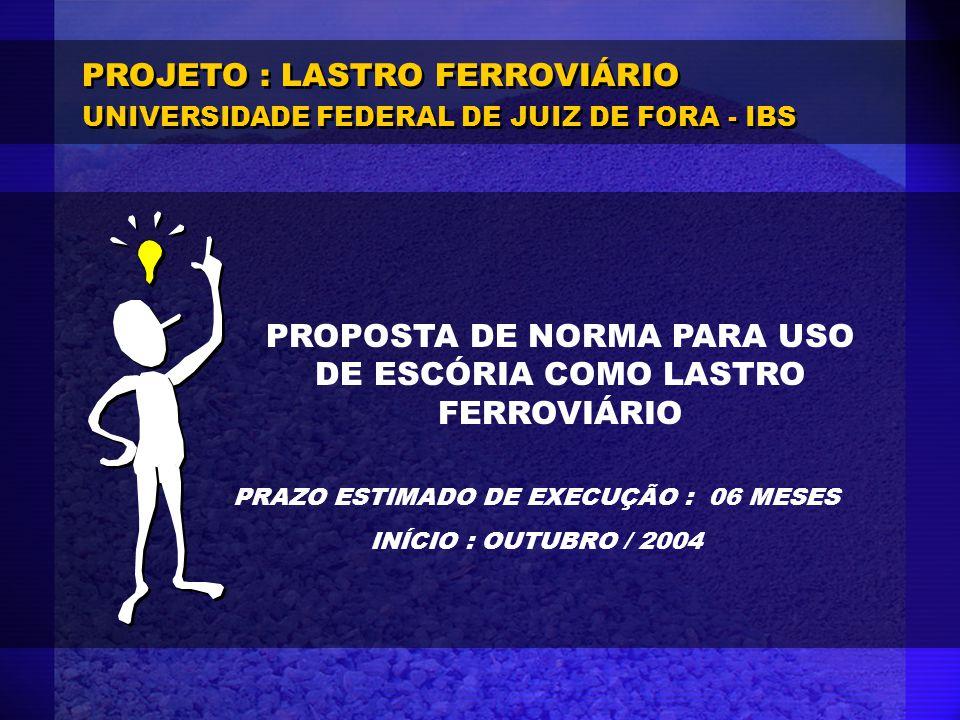 PROJETO : LASTRO FERROVIÁRIO