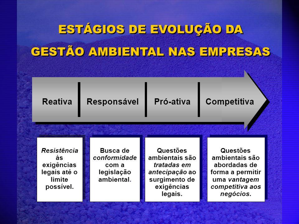 ESTÁGIOS DE EVOLUÇÃO DA GESTÃO AMBIENTAL NAS EMPRESAS