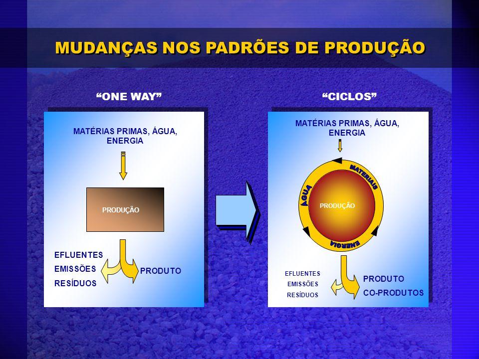 MATÉRIAS PRIMAS, ÁGUA, ENERGIA