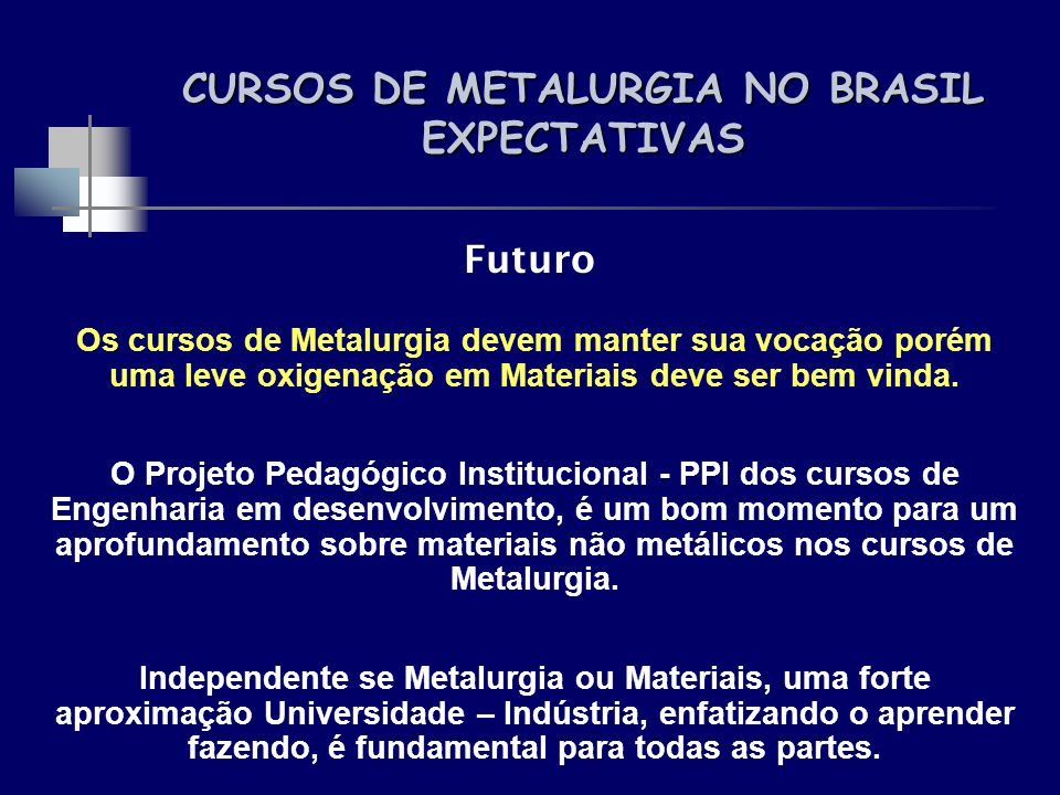 Cursos de metalurgia