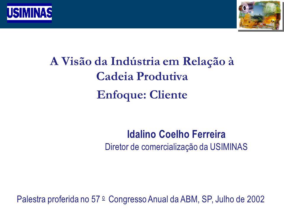 A Visão da Indústria em Relação à Cadeia Produtiva Enfoque: Cliente