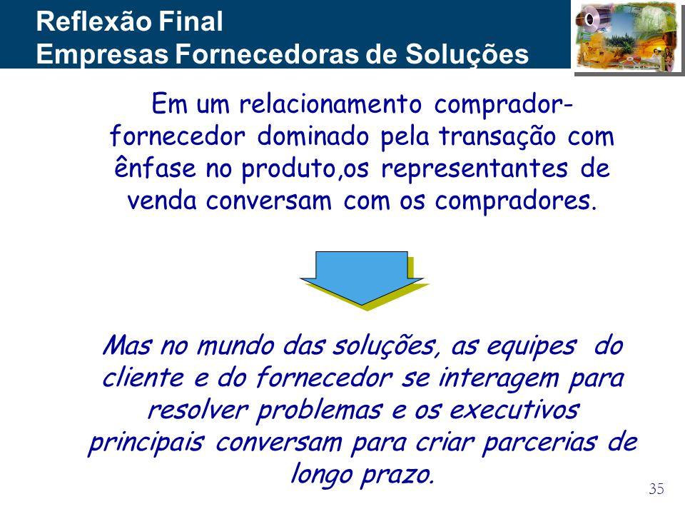 Empresas Fornecedoras de Soluções