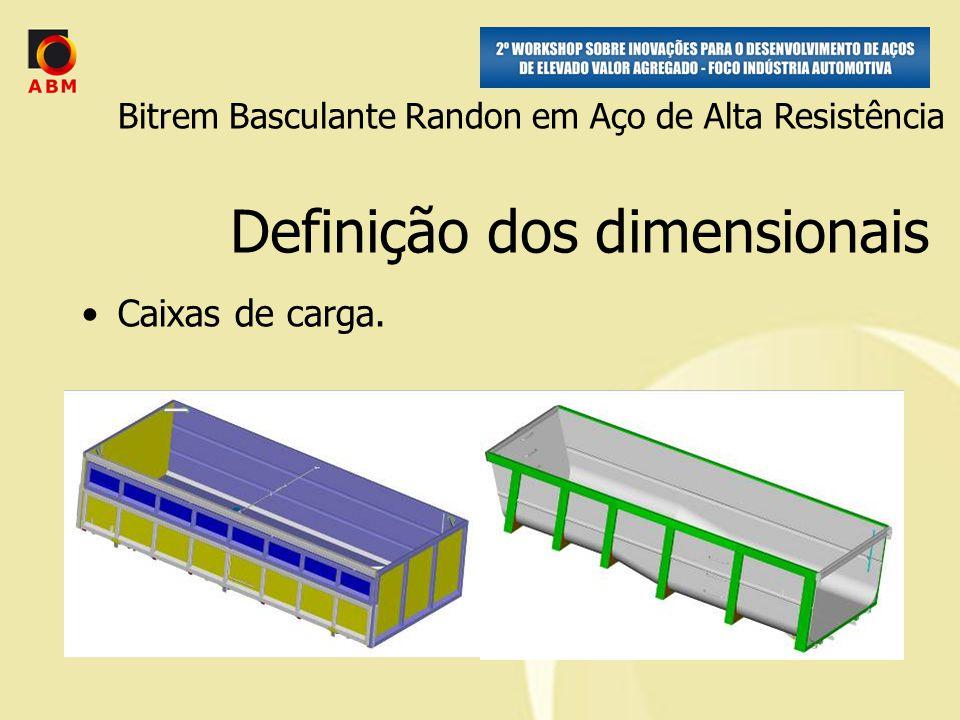 Definição dos dimensionais