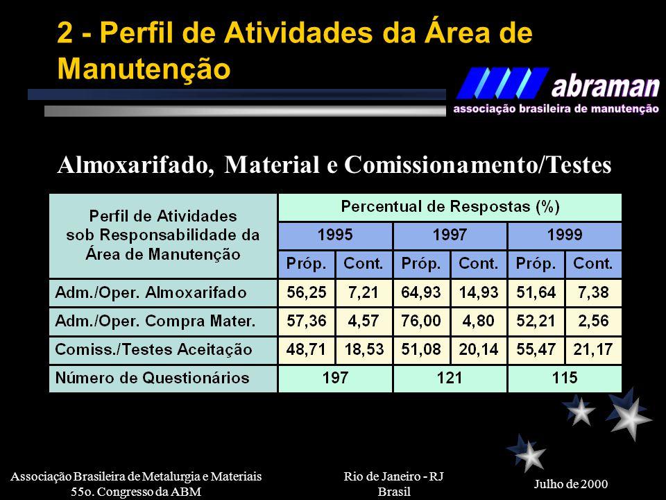 2 - Perfil de Atividades da Área de Manutenção