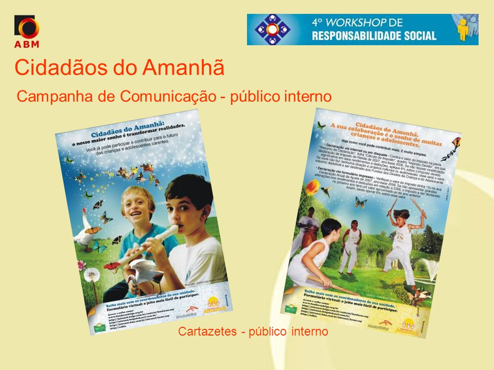 Cartazetes - público interno