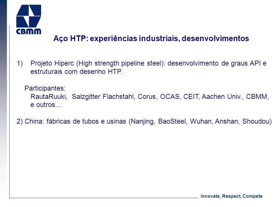 Aço HTP: experiências industriais, desenvolvimentos