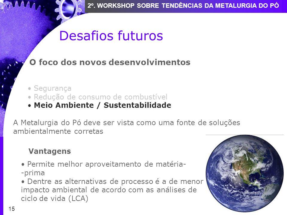 Desafios futuros O foco dos novos desenvolvimentos Segurança