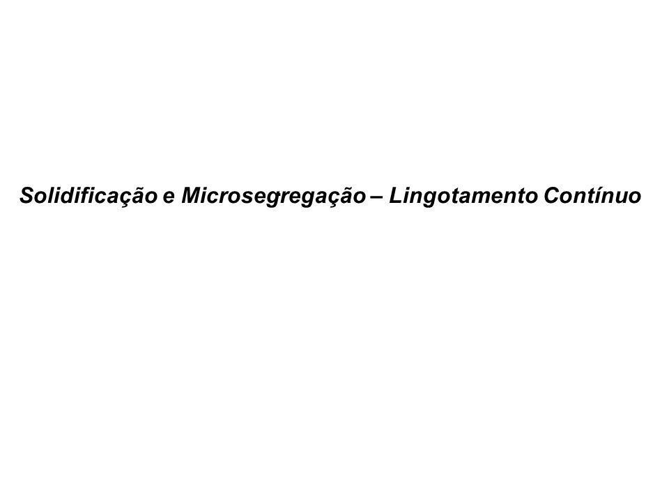 Solidificação e Microsegregação – Lingotamento Contínuo