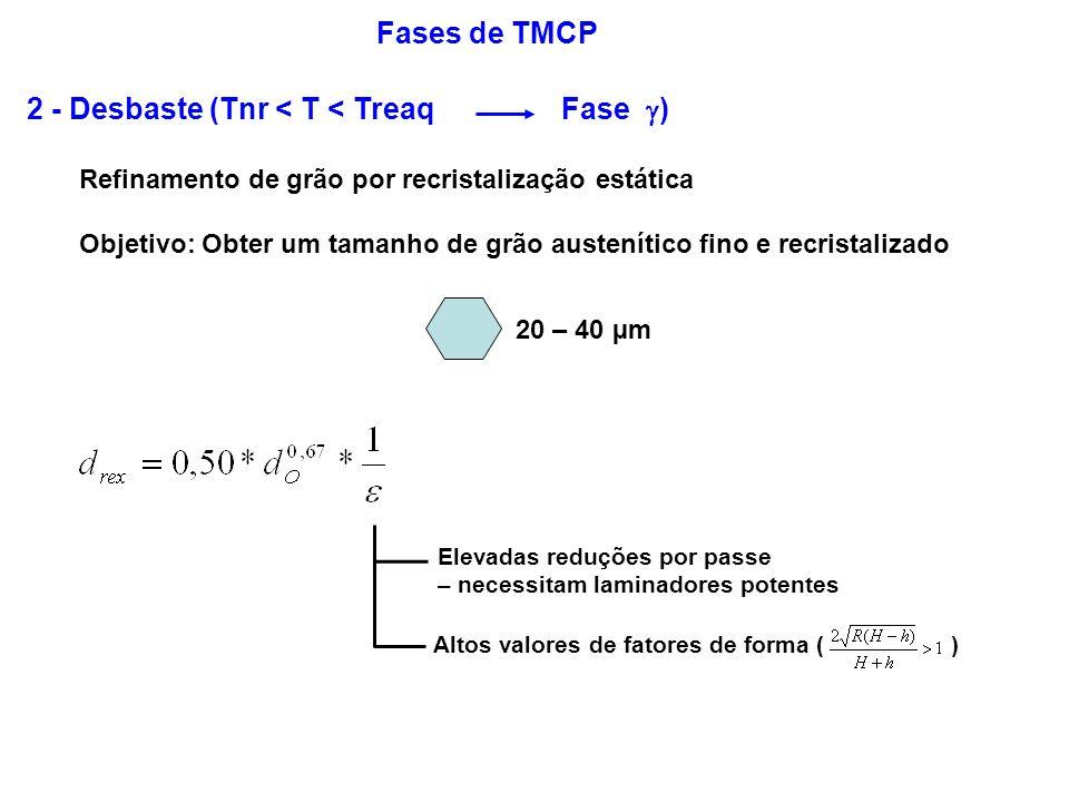 2 - Desbaste (Tnr < T < Treaq Fase )