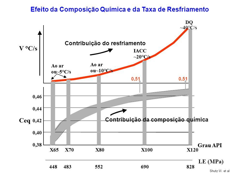 Efeito da Composição Química e da Taxa de Resfriamento