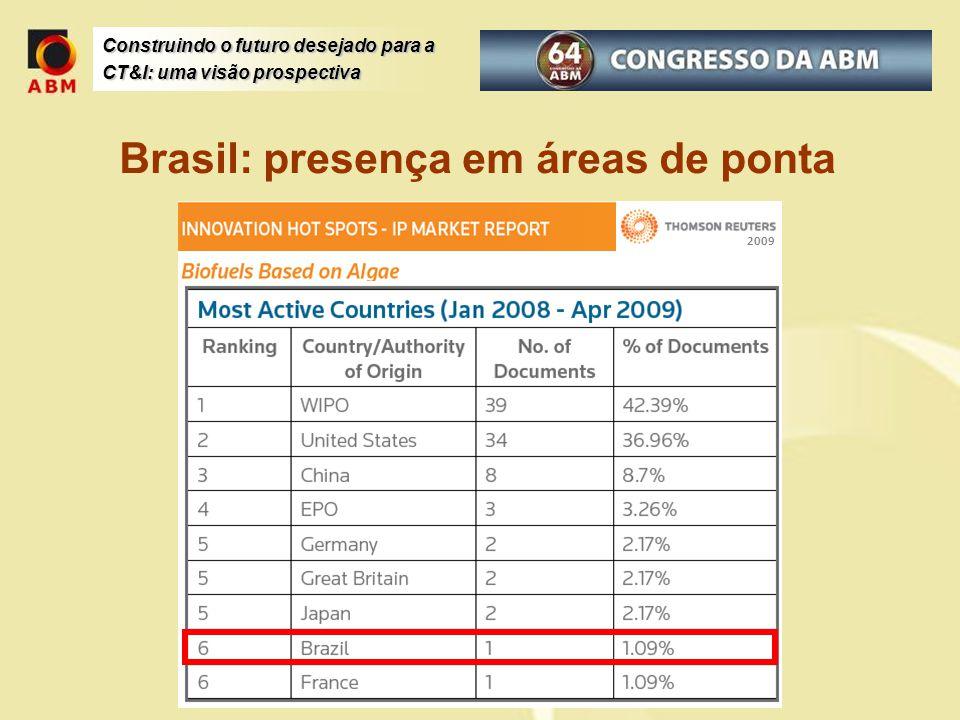 Brasil: presença em áreas de ponta