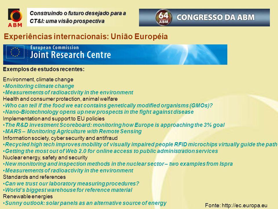 Experiências internacionais: União Européia