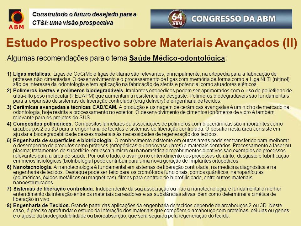 Estudo Prospectivo sobre Materiais Avançados (II)